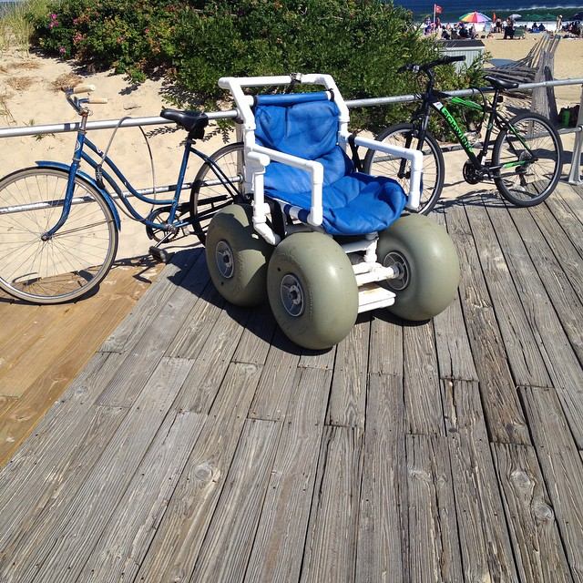 I found my happy place. #asburypark #sobouncy #beachonwheels #latergram
