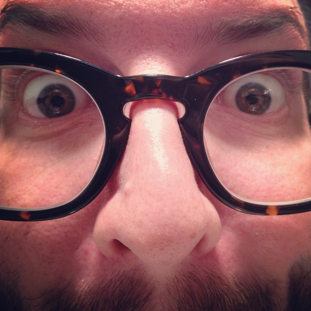 New reading glasses. Old face. #warbyparker #selfie #tooclose #hd #catch