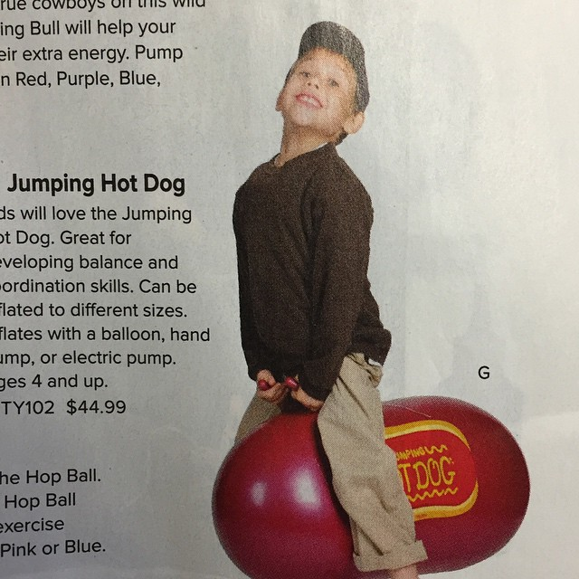 This is what pure joy looks like. #hotdog #Skymall #happy #alsoerotic #release