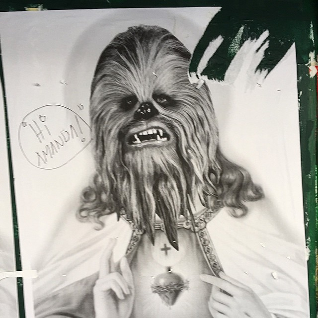 Hi @agitatedinxenon - someone is looking for you! #chewie #jesus