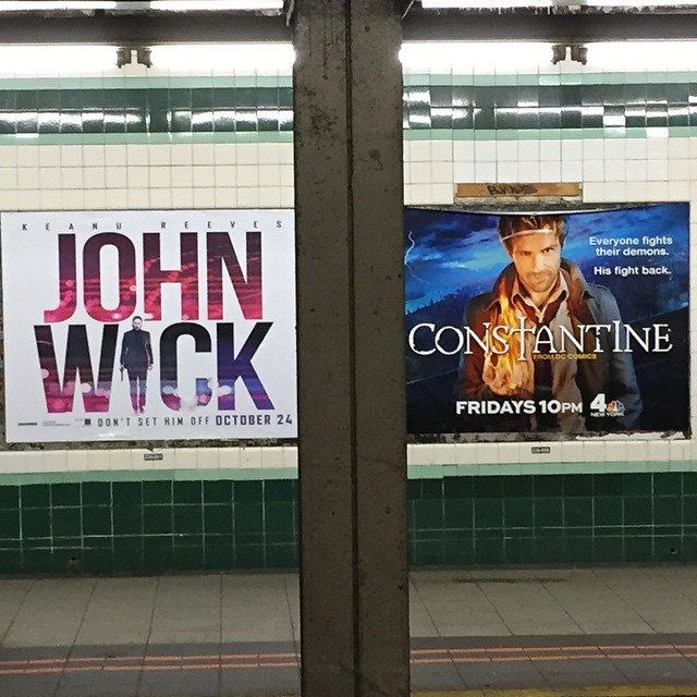 This makes quick work of how far Keanu has come. #lateralmove #subway #originalConstantine #johnwick #candlemaker #prolly