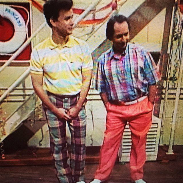 I spent way too much time impersonating these two. #snl #vintage #tomhanks #lovitz