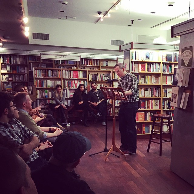 The great and very funny Tim Carvell from Last Week Tonight reading selections of his book, Return to Planet Tad at the Real Characters show! I had fun kicking things off tonite! #realcharacters #mcnallyjackson