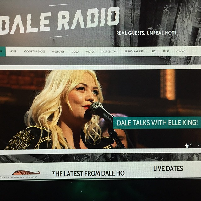 So much love for the great @elleking! My guest this week on Dale Radio! www.daleradio.com