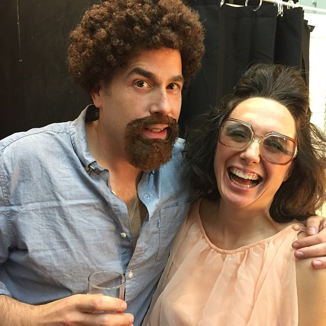 The ghost of Bob Ross was our DJ and kept things light backstage! #sfsketchfest #comedy #Daleradio #bobross #pbs