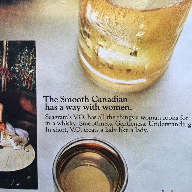 This old issue of TIME has a lot of whiskey ads and they seem to be speaking directly to me and about me. #Canada #whiskey #ads #smooth #women