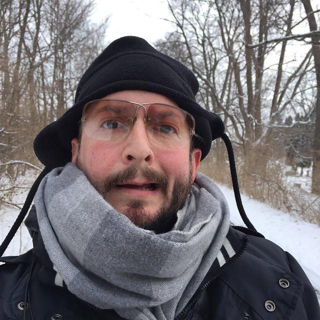 Live from New York Fashion Week! #NYFW #cold #fashion #werk #selfie #Daleradio #cheeks #frozen #Ohio